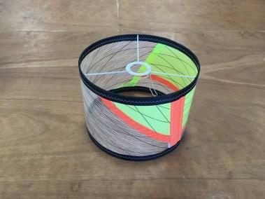 abat jour voile de windsurf gaastra manic 3 recyclée voilerie j ai cassé ma voile