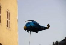 ballon hélicoptère sur Annecy
