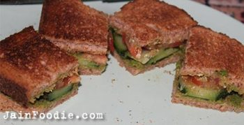 Jain Vegetable Toast Sandwich