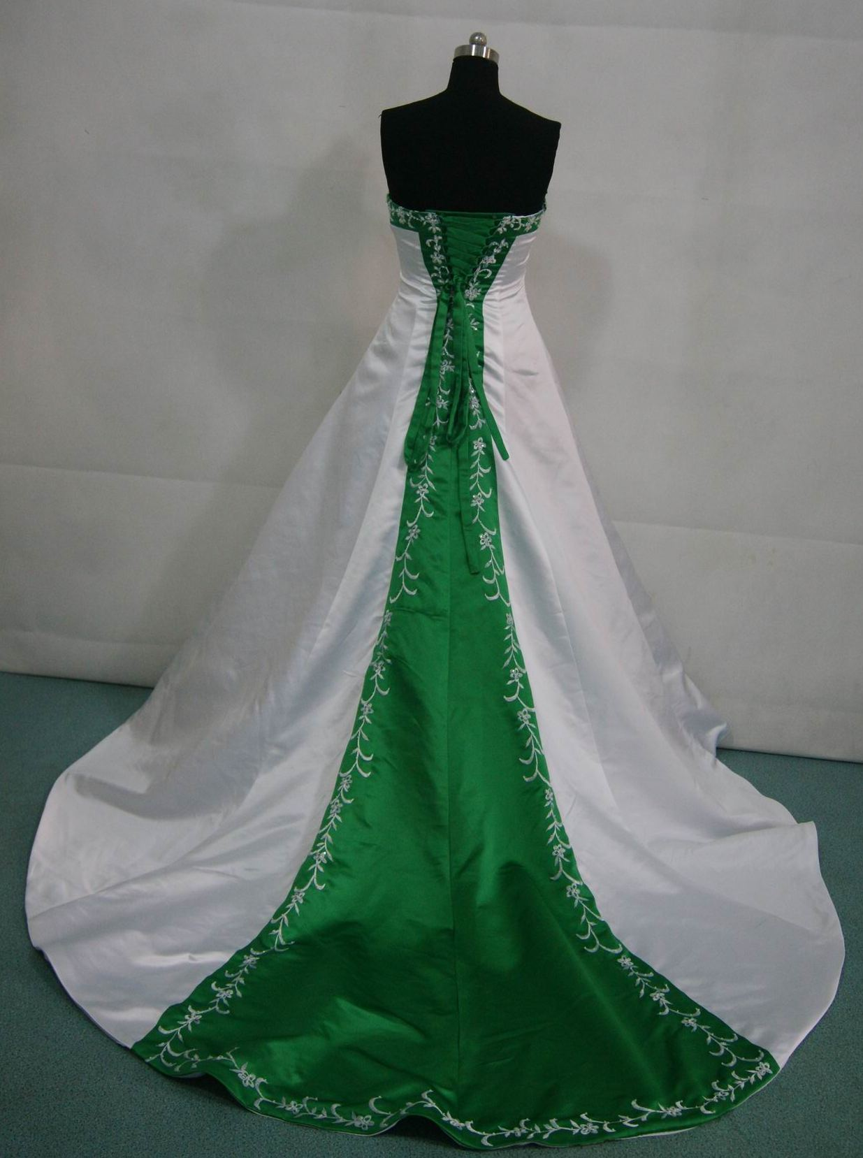 Bridal gowns with color green wedding dress white and green wedding gown