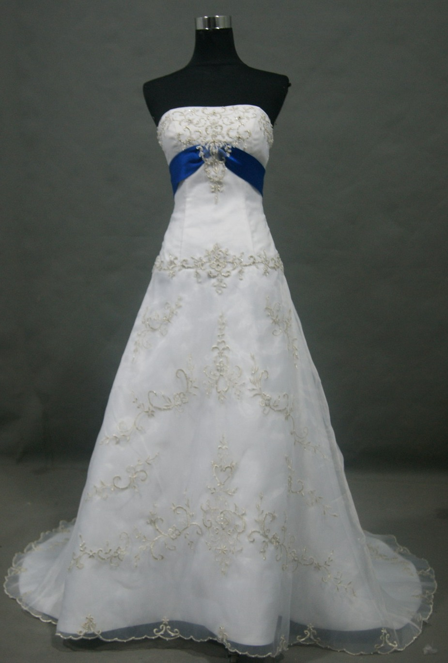 Aimee 52 wedding gown viking wedding dress white and blue wedding gown