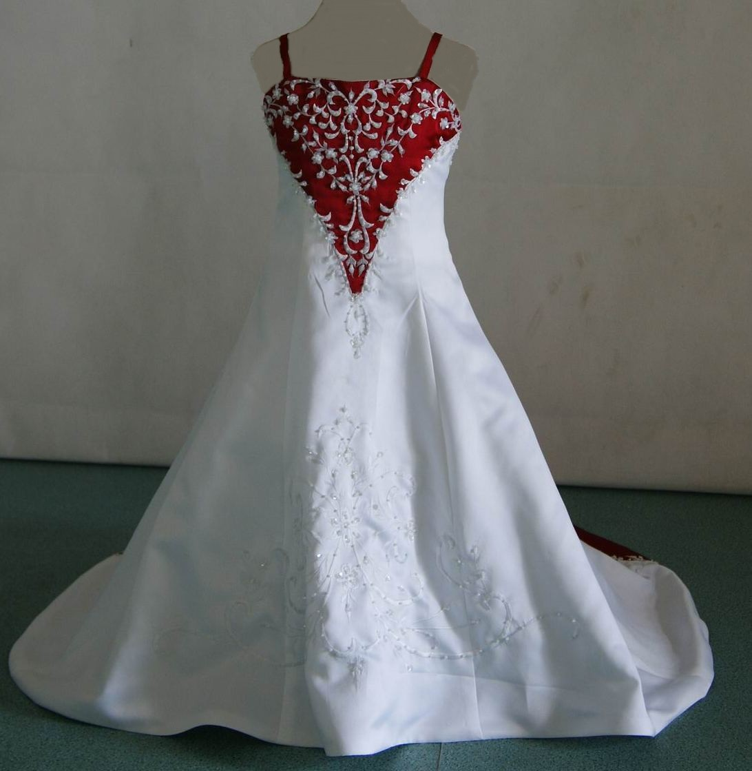 MB white wedding dresses red and white baby wedding dresses