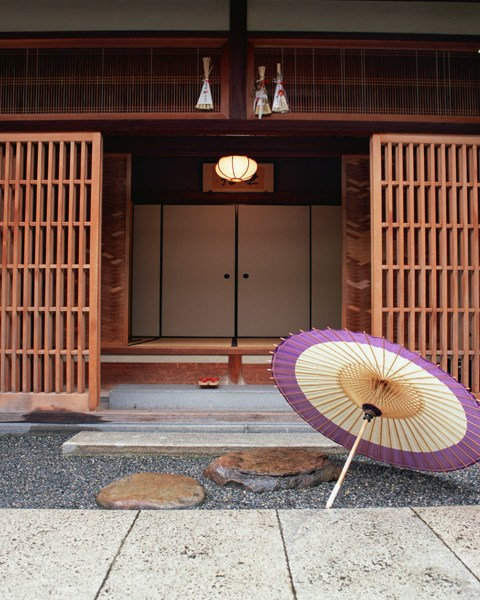 entrée maison traditionnelle Japon