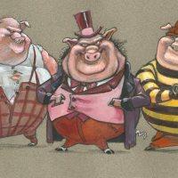 Three Bad little pigs