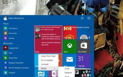 Windows 10 Hands On – The Start Menu is Back, Start Screen Evolves