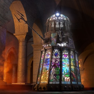 Stained glass Dalek Stainley