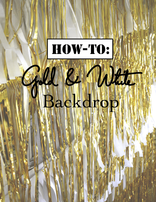 how-to: Gold& White bakdrop
