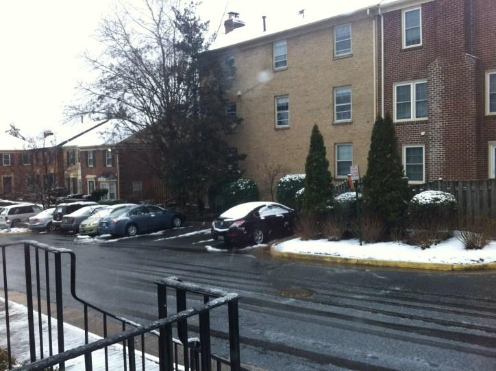 A look down my (snowy?) street.