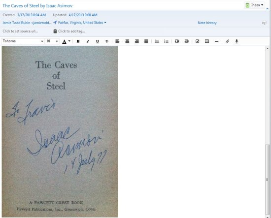 Caves of Steel Signed