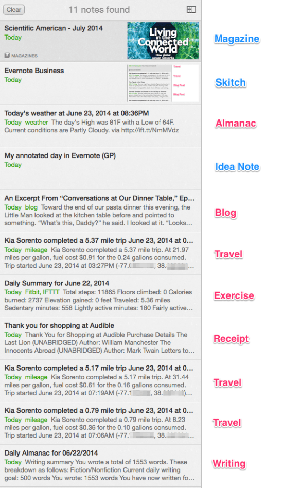 Evernote Weekday