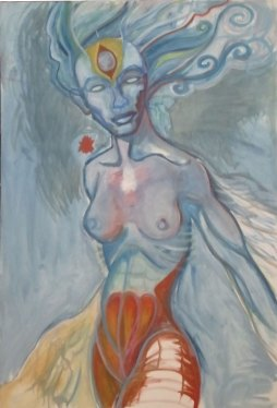 Blue Lady 2011 oil, canvas wip