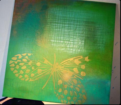 Guld-feber :-) igangværende maleri