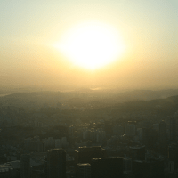 Seoul Day 1: Sunset at N Seoul Tower, Namsan Park