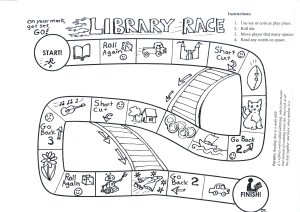 Jane's Folly Library Race boardgame