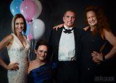 formal attire at the gala ball