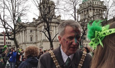 Lord Mayor of Belfast at the St Patricks Day Parade, Belfast #loveBelfast #loveni #stPatricksDay
