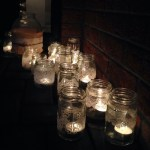 More of the candles outside for the birthday party