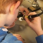 Learning to solder at NI Raspberry Jam