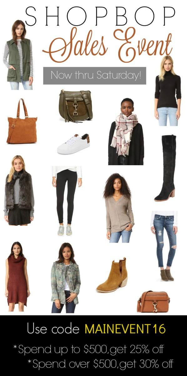 Shop Bop Sales Event 2016