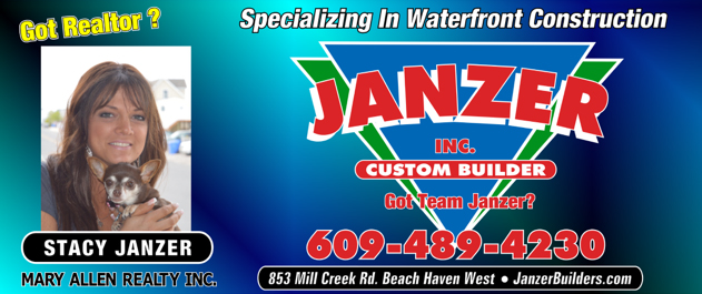 About Stacy Janzer, NJ Realtor specializing in waterfront homes, BLI homes, Beach Haven West homes,, LBI, Long Beach Island, New Jersey - www.JanzerBuilders.com