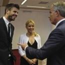 Shakira, Tony Blair, Gerard Pique