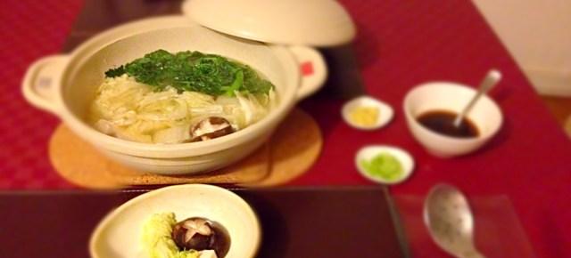 Yosenabe au ponzu et yudôfu 自家製ポン酢と寄せ鍋、湯豆腐