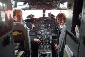 Andrew & Julie the JARE ATP Founders welcome all from the Flight Deck of their Boeing B737 Aircraft