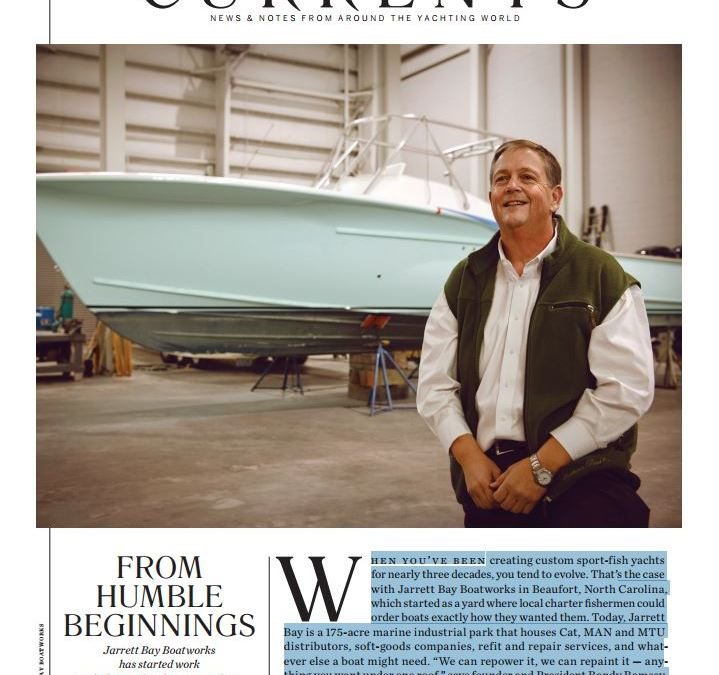 Yachting Magazine on Jarrett Bay: From Humble Beginnings