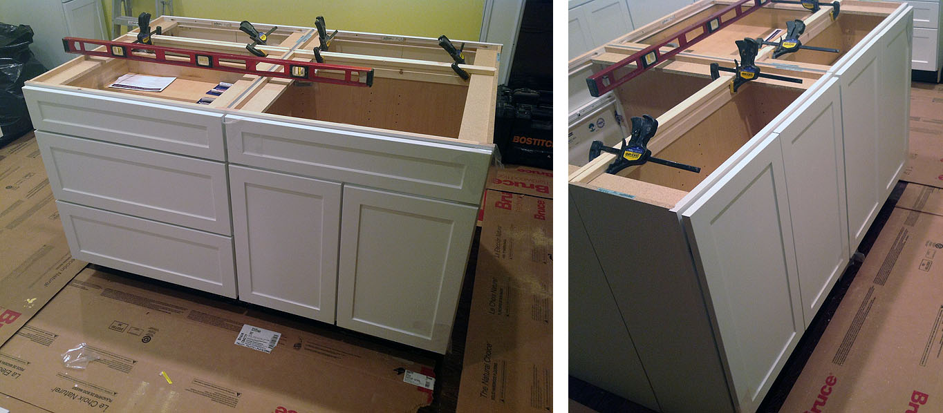 p kitchen island cabinets Kitchen island cabinets front and back This