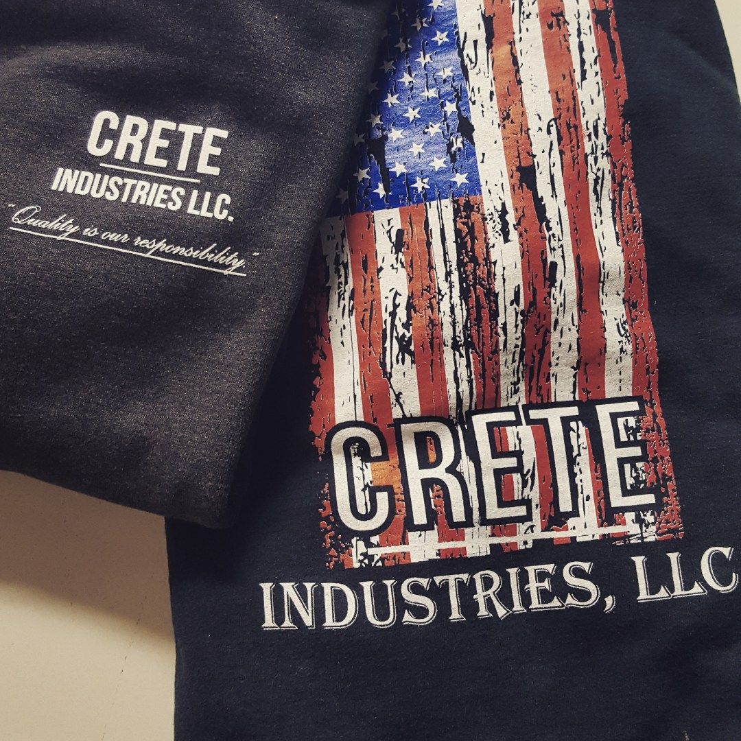Screen Printing for Crete Industries