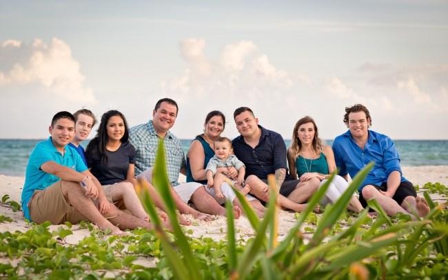 Smith Family Photo Session at Xaman-Ha Ruins