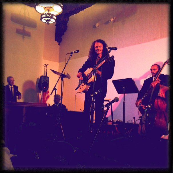 """Performing """"Giving Back,"""" a new Kenny Burrell composition."""