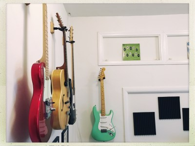Some of the guitars.