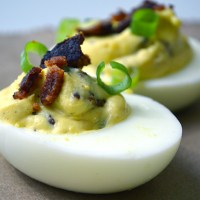 Bacon and Green Onion Deviled Eggs
