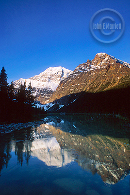 Edith Cavell Lake, one of Jasper National Park's most beautiful.