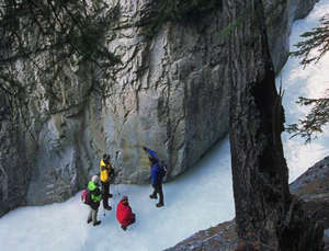 Experience the winter wonderland of Banff National Park with an ice walk.