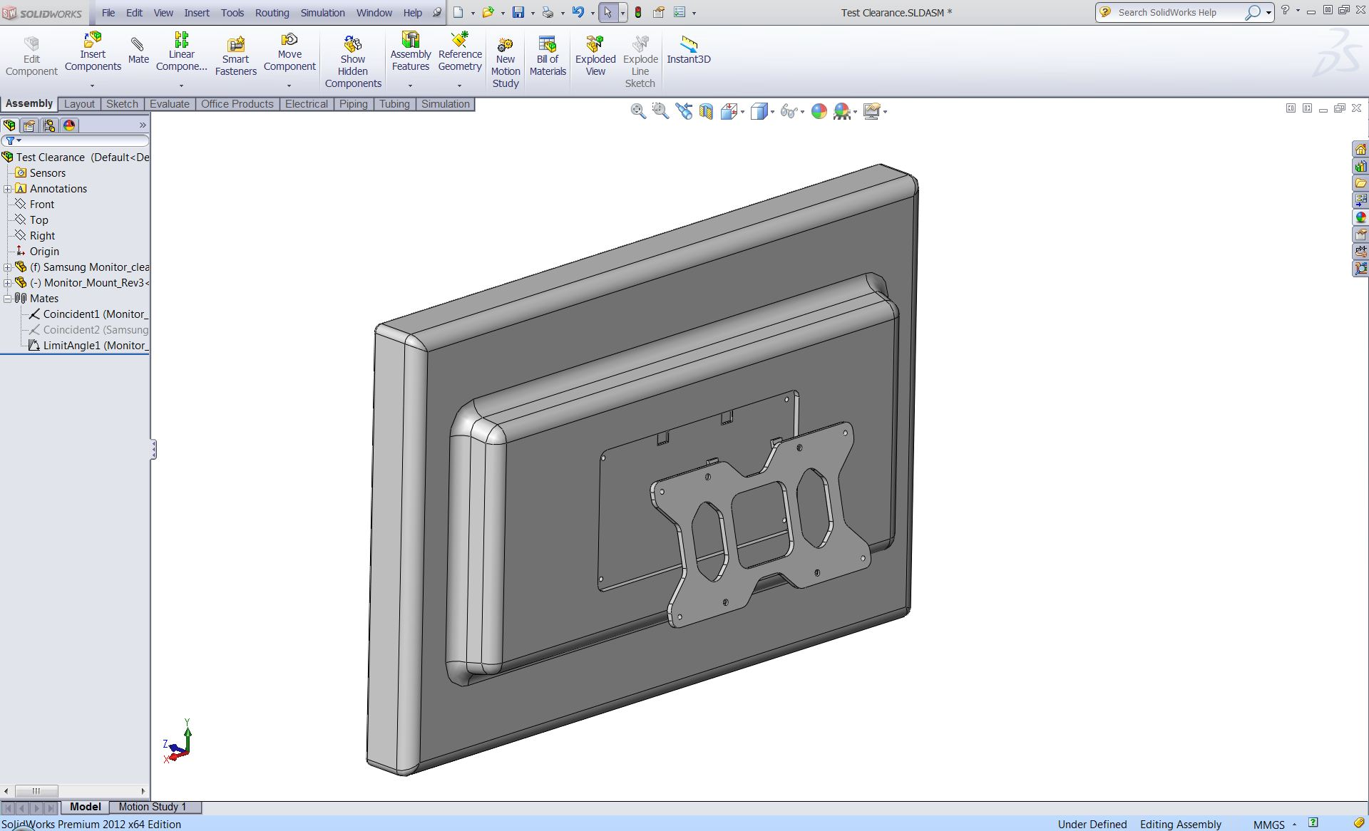 Designing A Standing Desk With Solidworks Piping Diagram Fit Test 1