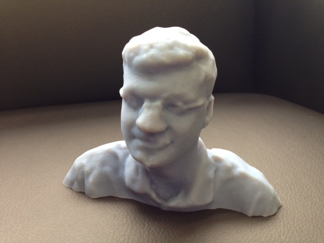 Jim Peltier, printed in an Objet 3D printer from 123D Catch data.