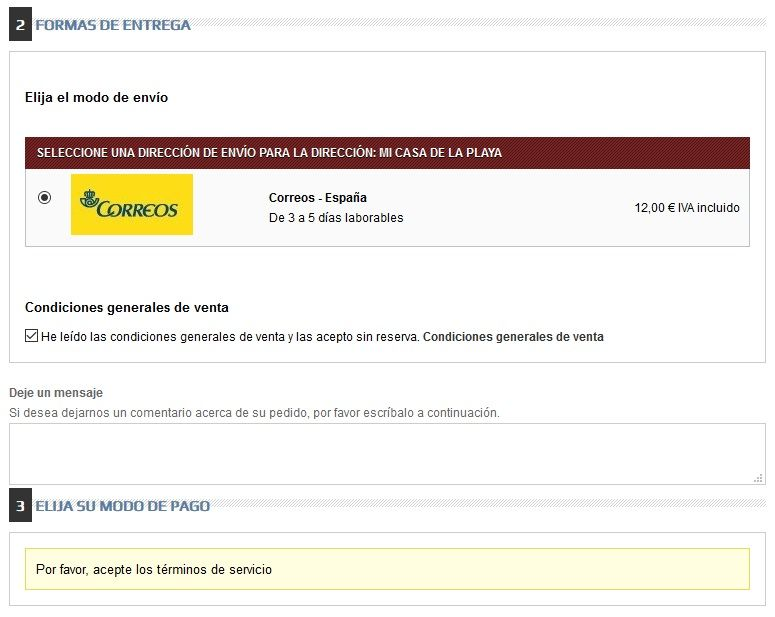 Prestashop Error Pedido rapido