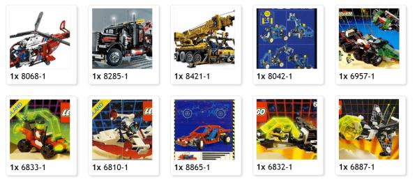 Mi colección de Lego Technic