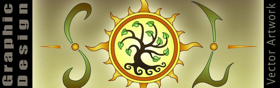 Graphic Design - From the SOL - Tree of Life - By Jayel Draco