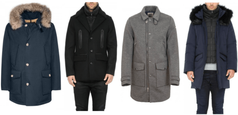 From L to R: Woolrich John Rich & Bros - Arctic Parka, Soia & Kyo - Wool Jacket, Colmar Originals - Wool Insulated Jacket, Soia & Kyo - Marshall Parka.