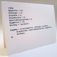Recipe for Egg Nog in Code - Greeting Card