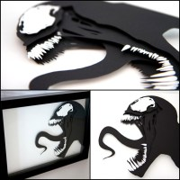 Venom - 3D Hand Cut Paper Craft by Will Pigg