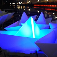 Voyage - An Art Installation of 300 Illuminated Paper Boats