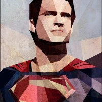 A Cubist Take on The Man of Steel