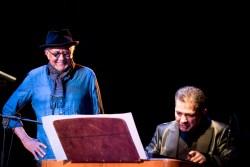 Charles Lloyd beim Jazzfest Berlin 2015 hier mit: Miklós Lukács . Foto: Petra Basche