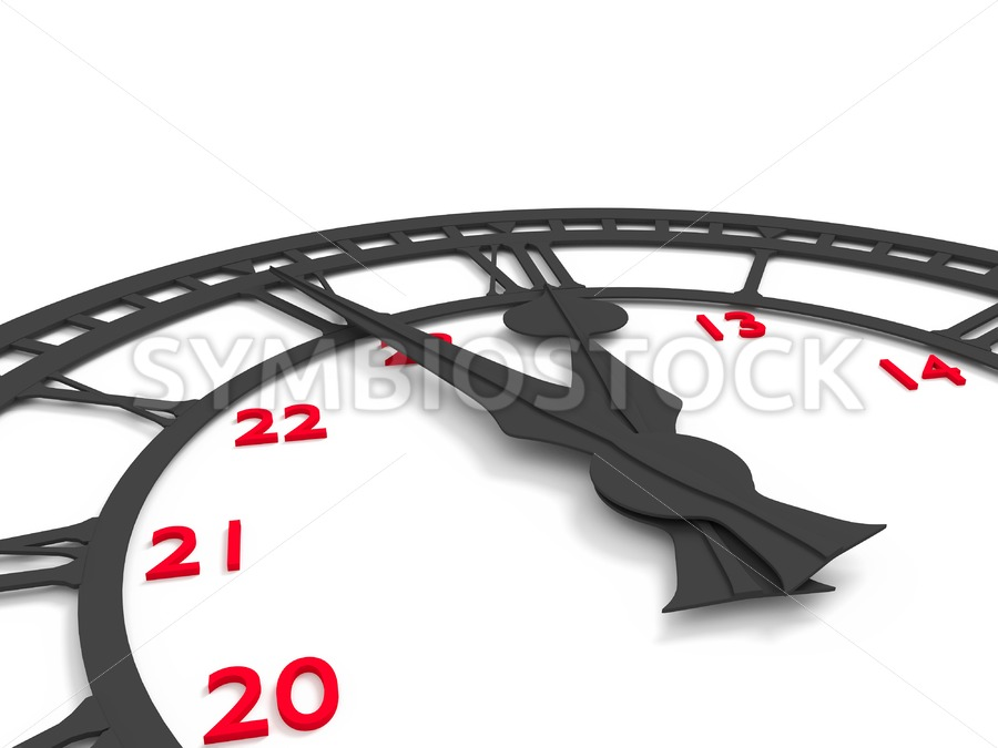 5 minutes to 12 - Jan Brons Stock Images