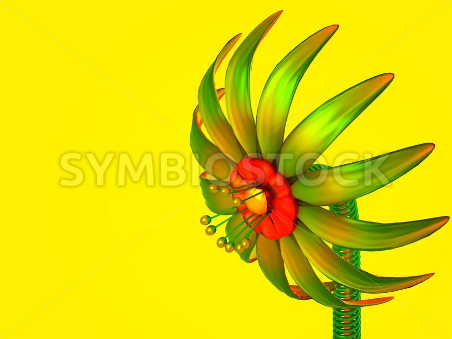 Digital Glass Flower