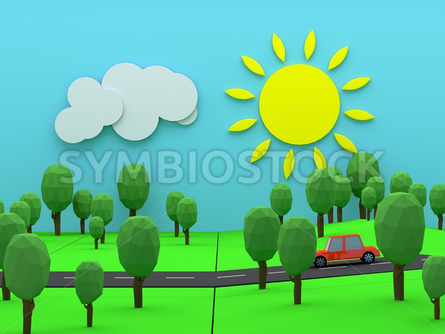 Driving through countryside - Jan Brons Stock Images